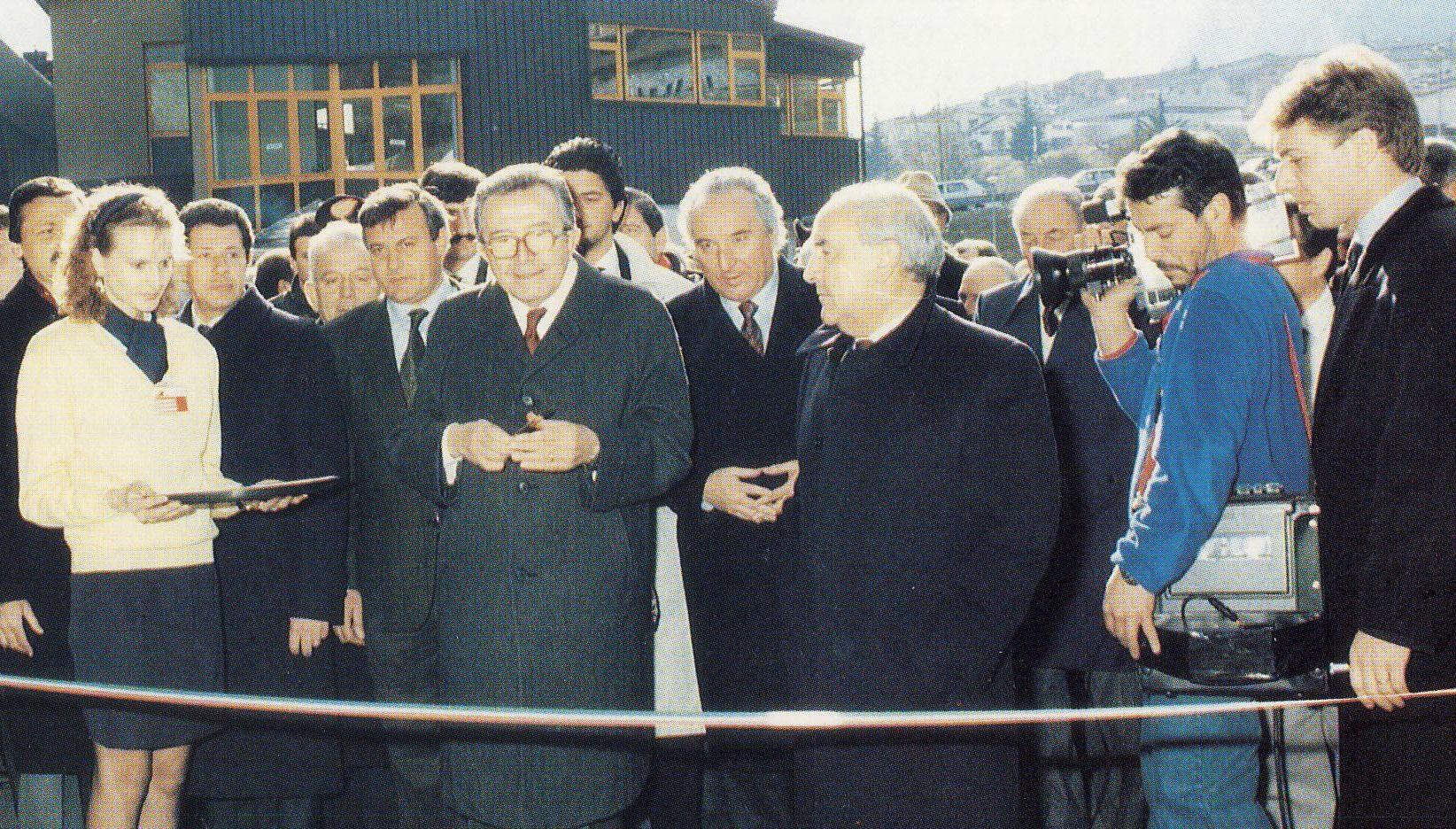 Antonino Vicari Sottosanti al taglio del nastro della 30a Mostra Internazionale del Gelato